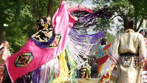 Canada's  indigenous peoples dance in sacred regalia at 28th annual powwow