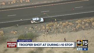 Suspect killed after opening fire on trooper near Quartzsite - Video