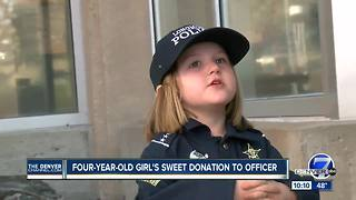 Girl, 4, donates piggy bank money for Longmont officer battling cancer - Video