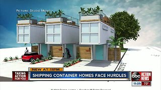 Shipping container homes face hurdles in Tampa Bay