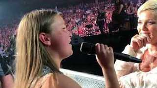 12-Year-Old Fan Wows Pink as She Sings at Vancouver Show - Video