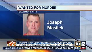 Man wanted in Northeast Baltimore homicide - Video