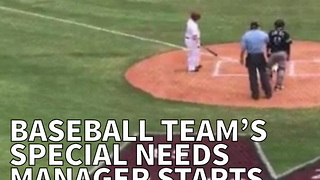 Baseball Team's Special Needs Manager Starts Off Game In Perfect Way - Video