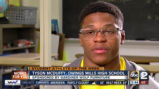Student athlete of the week Tyson McDuffy - Video