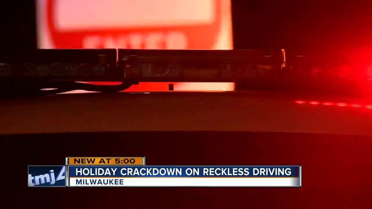 Holiday crackdown on reckless driving