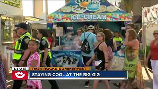 Staying cool at Summerfest