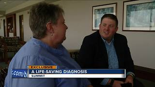 Son's cancer diagnosis helps save his mom's life