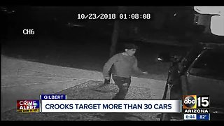 Another string of car break-ins in a Gilbert neighborhood