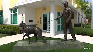 American military hero dog monument unveiled in Boca Raton