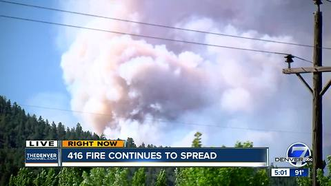 416 Fire burning in southwest Colorado grows to 7,180 acres
