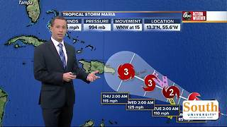 Tropical Storm Maria forms in the Atlantic, expected to become hurricane