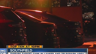 Southfield car break-ins - Video