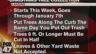 Christmas tree collection in Lansing - Video