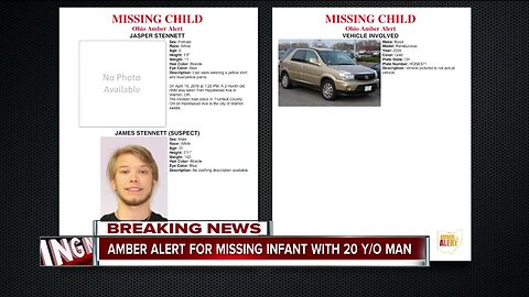 Amber Alert issued for 2-month-old with 20-year-old male suspect