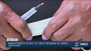 Man starts a push to help a woman in need