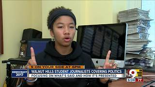 Walnut Hills student journalists covering local politics - Video
