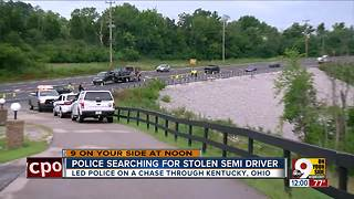 Semi driver leads police on multistate chase - Video