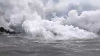 Lava From Hawaii's Kilauea Volcano Pours Into Pacific Ocean - Video