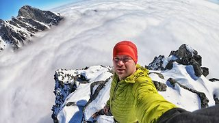 Incredible footage shows adrenaline junkie become first person to climb dangerous mountain in two decades