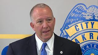 Akron mayor addresses the resignation of Akron Police Chief James Nice - Video