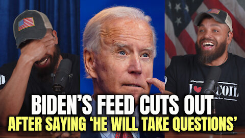 Biden's Feed Cuts Out After Saying 'He Will Take Questions'