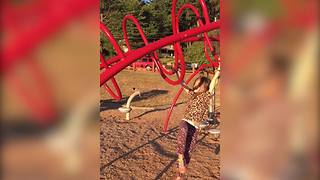 Adorable Girl Falls Off Curved Monkey Bars - Video