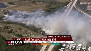 Brush fire shuts down Gandy Blvd., slows I-275 in St. Petersburg
