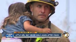 Little girl may never walk again after crash on SR-125 - Video