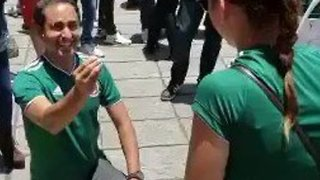 Fan Proposes to Girlfriend Amid Wild World Cup Celebrations in Mexico City - Video