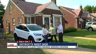 Owners say morning raids in Detroit by federal officials targeted wrong homes - Video