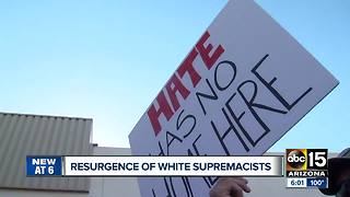 Resurgence of white supremacists raising flags - Video