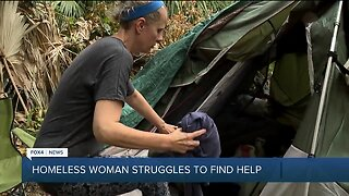 Homeless woman struggles to find help