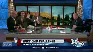 News Anchor's Attempt to Eat 'World's Hottest Chip