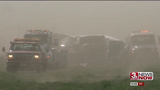 Winds, blowing dust menace Omaha metro area - Video