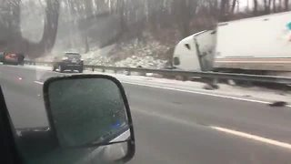 One dead after crash involving semi on the Ohio Turnpike - Video