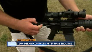 Gun debate continues after mass shooting