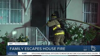 Family escapes house fire in Chollas View