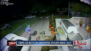CBPD: 64 bicycles reported stolen since July