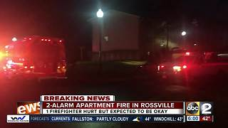 Firefighter transported to hospital after apartment fire in Rossville - Video