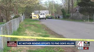 KC mother renews efforts to find son's killer - Video