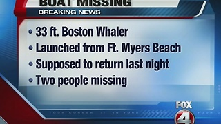 Coast guard searching for missing boat off Fort Myers Beach - Video