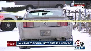 Man found dead in car is Indy's first homicide of 2018 - Video