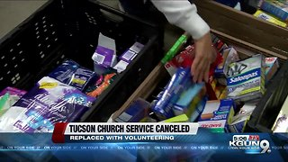 Pantano Christian Chuch Cancels Service to Serve the Tucson Community