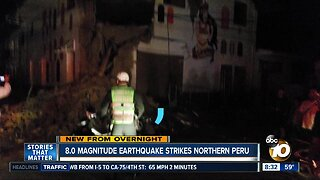 8.0 magnitude earthquake strikes northern Peru