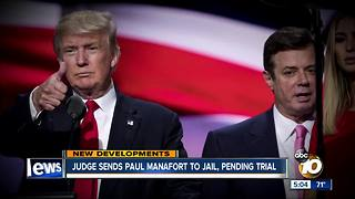 Judge sends Paul Manafort to jail - Video
