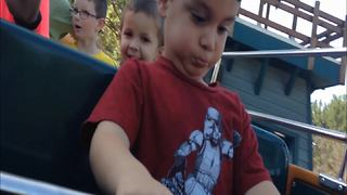 Little Boy's First Amusement Park Ride - Video