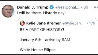 Jan 6th Trump will be there at White House ellipses