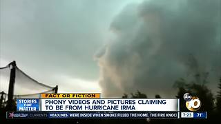 Fake Irma videos and pictures