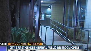 Gender-neutral bathroom to be unveiled by the city of San Diego on Thursday - Video