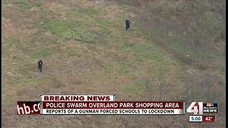 Police clear reported threat in Overland Park - Video